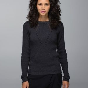 Lululemon Sweater the Better In Heathered Black Sz
